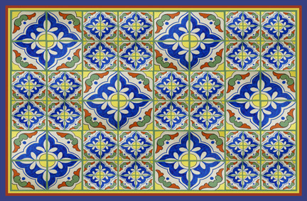 Spanish Tile Medium Mat